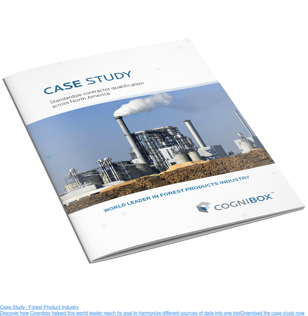 Case Study : Forest Product Industry  Discover how Cognibox helped this world leader reach its goal to harmonize  different sources of data into one tool Download the case study now