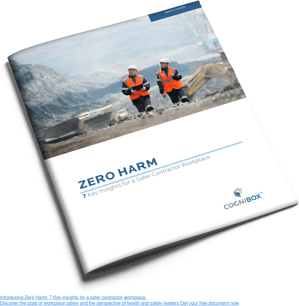 Introducing Zero Harm: 7 Key insights for a safer contractor workplace.  Discover the state of workplace safety and the perspective of health and  safety leaders. Get your free document now <>