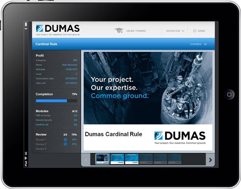 La plate forme e-learning de SIM facilitera la diffusion de la formation pour des centaines d'employés de Dumas Contracting à travers le monde